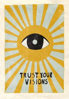 Trust your visions Mini Art Print by Asja Boros - Without Stand - 3 Collage Mural, Photo Wall Collage, Picture Wall, Art Hippie, Hippie Drawing, Hippie Painting, Wall Prints, Poster Prints, Pop Art Posters