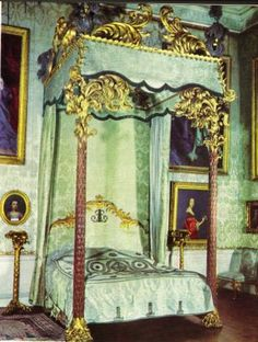 The State Bedchamber at Kedleston Hall. The bed was built in the late 1760s.