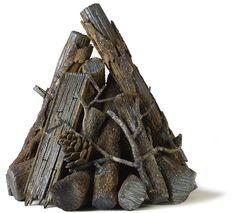Gas Fire Logs, Log Fires, Steel Fire Pit, Fire Pits, Custom Fire Pit, Steel Detail, Pine Cones, Landscaping Ideas, Ski
