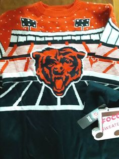 bad6c645a Show off your fun side and ensure your fandom is on full display by putting  on this CHICAGO BEARS Bluetooth Light Up Ugly Sweater.
