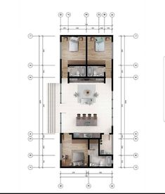 Container House Plans, Container House Design, Home Design Floor Plans, House Floor Plans, Plan Design, Narrow House Plans, Architectural Floor Plans, Compact House, Apartment Plans