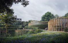 Kengo Kuma y Cornelius+Vöge diseñan el nuevo museo de Christian Andersen en Odense