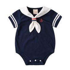 Sea Sailor Style Summer Cotton Baby Romper  Price: $ 11.68 & FREE Shipping   #happychild #happybaby #maternity #motherhood #baby #child