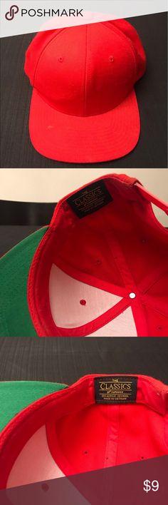 Yupoong classic SnapBack baseball cap red 7887b4f9680