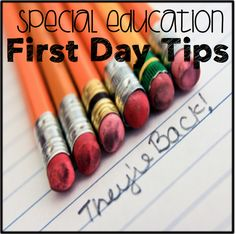 8 First Day of School Tips for Special Education
