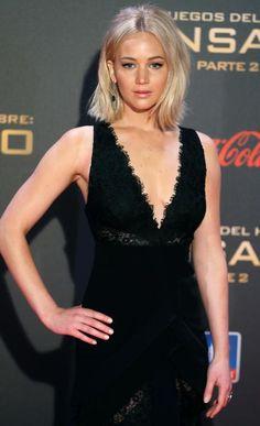 Jennifer Lawrence, en la alfombra roja del estreno de 'Sinsajo, parte 2' en Madrid
