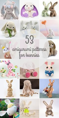 Find these 53 Amigurumi Patterns For Bunnies on our website!