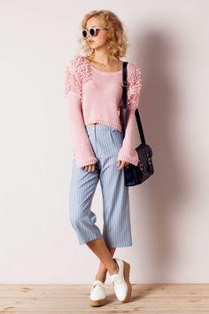 Pantalón pesquero ancho raya diplomática Itemu - Pantalones - Clothes