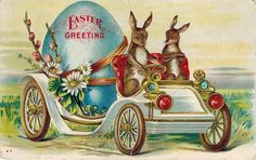 Old Easter Post Card — Easter Greeting,  1908   (1100x692)