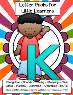 LETTER K Letters for little learners – 62 pg. - recognition, sound, tracing and craftivities. Low prep. Appropriate for pre-readers.
