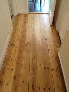 Sanded and Waxed floorboards