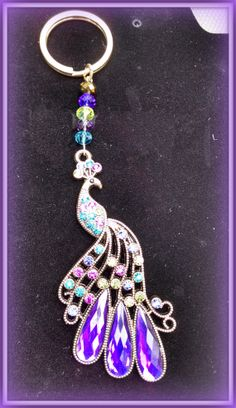 Peacock Keychain by Purrwoof on Etsy, $12.00