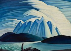 Lake and Mountains by Lawren Harris. Discover the fine art of Lawren Harris who was a member of the Group of Seven who pioneered a distrinctly Canadian style in the early twentieth century. He was primarily known for his landscape images such as Lake and Mountains.
