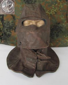 WWII Russian Air Force Bomber Rear Gunner Mask Helmet | eBay