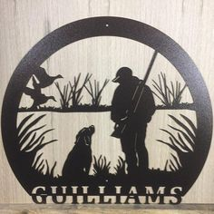Get your duck hunter a special and unique gift this Fathers Day! Deer Hunting Decor, Hunting Signs, Unique Gifts For Dad, Personalized Gifts For Dad, Metal Yard Art, Metal Art, Duck Silhouette, Deer Signs, Jeep Stickers