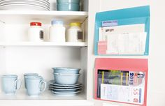 Great ideas from Post It for cabinets and the fridge.