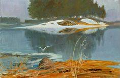 Soldan-Brofeldt, Venny (1863-1945) Spring Lake - Keväinen järvimaisema1941