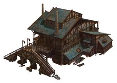 ArtStation - Common Medieval House, Selshas Ranos