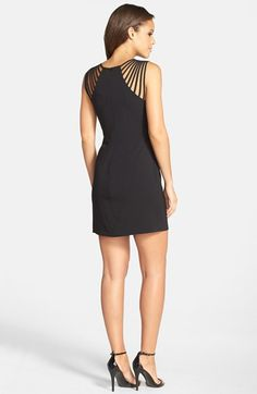 Dress the Population 'Cora' Strappy Shoulder Sheath Dress available at #Nordstrom
