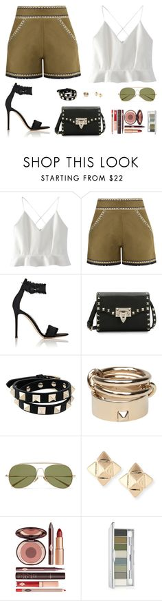"""Untitled #5009"" by mdmsb on Polyvore featuring WithChic, Talitha, Gianvito Rossi, Valentino, Acne Studios, Charlotte Tilbury and Clinique"