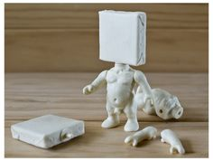 Johnny paint me motherfucker (Mini edition) Unlimited edition. Poliurethane resin 12cms tall toy sculpture. Ready to be painted or customized. Articulated The origninal character from Emilio Subirá is  one by one made by the artist at his studio in Seville, Spain.