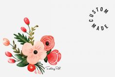 Check out Bouquet Flower Illustration by felingpoh on Creative Market
