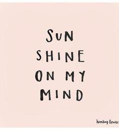 Summer sunshine on our mind.
