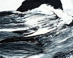 Werner Knaupp chose the deep and wild sea to emulate in his mysterious paintings. Using thick layers of acrylics, his work is intense, and beautiful.  Werner Knaupp was born in 1936 and lives in Nürnberg, Germany.