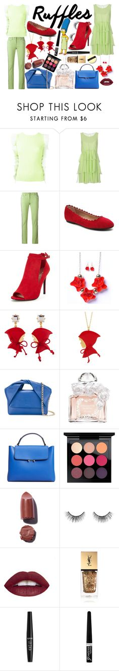 """Marge Simpson"" by quinn-avina ❤ liked on Polyvore featuring David Koma, Ermanno Scervino, Etro, Les Néréides, J.W. Anderson, Guerlain, MANGO, MAC Cosmetics, tarte and L.A. Girl"