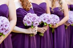 Like the idea of light purple flowers if the dresses are dark..Idea for @Katy Cameron