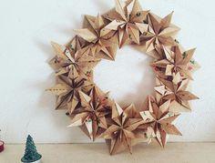 Christmas crown origami