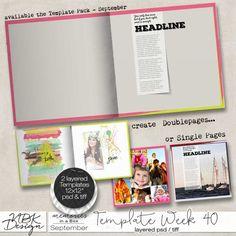 September {Template 40) | NBK Design | 25/09 - New Release :: Memory Scraps