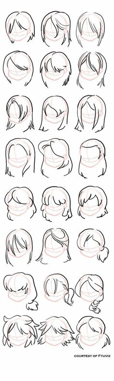 31 ideas drawing tutorial hair hairstyles design reference for 2019 - drawings Art Drawings Sketches Simple, Pencil Art Drawings, Drawing Tips, Cartoon Drawings, Drawing Ideas, Drawing Style, Drawing Art, Hair Drawings, Cartoon Illustrations