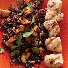 Warm Quinoa Salad with Carrots & Grilled Chicken Recipe  | MyRecipes