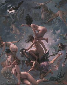 Brujas yendo al Sabbath. Por Luis Ricardo Falero, 1878. http://iglesiadesatan.com/