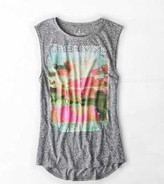 AE Tropic Graphic Muscle Tee
