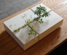 Interior Weeds by Arwin Caljouw: Inspiration for a DIY. Interior Weeds by Arwin Caljouw: Inspiration for a DIY. The post Interior Weeds by Arwin Caljouw: Inspiration for a DIY. Concrete Crafts, Concrete Projects, Concrete Planters, Garden Planters, Ikebana, Garden Art, Garden Design, Garden Beds, Deco Nature
