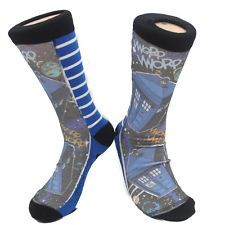 DOCTOR WHO TARDIS COMICS KNITTED MEN SOCKS AUTHENTIC *NEW* RARE SALE!!!