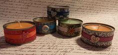 Velas de colores y aromatizadas