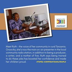 Another amazing woman we've met👆 This time it was in Tanzania. Ruth is a pioneering community radio announcer we worked with while conducting a large radio distribution near Lake Victoria.