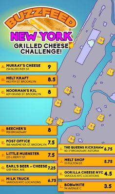 2 brave women ate their way through 12 of NYC's greatest grilled cheeses!