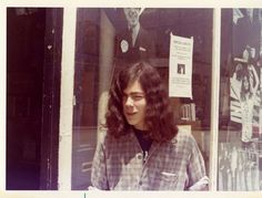 A buddy of mine outside Kropotkin Records on Long Island, 1972.