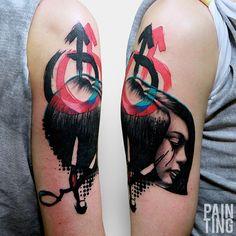 #tattoofriday - Szymon Gdowicz, Polônia. #tattoo #tatuagem #szymongdowicz #cores #aquarela