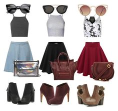 """""""my favorite halter and skater skirt combos """" by swagmanda on Polyvore"""
