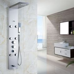 Precise Smart Thermostatic Digital Screen Waterfall Bathroom Shower Message Jets Bath Hot And Cold Shower Panel Delicacies Loved By All Shower Equipment