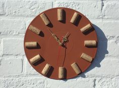 Wall clock Wine OClock modern wall clocks unique by OlgaArtShop, $67.00