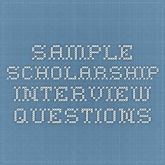 Question about scholarships?