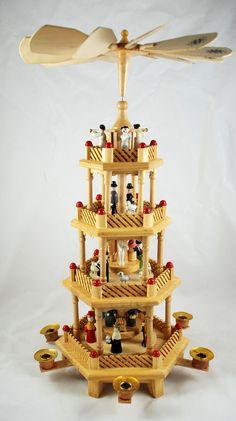 Vintage German Christmas Nativity Pyramid by SmeerlingAntiques, €60.00