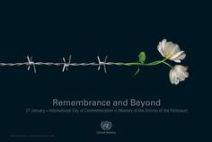 Remembrance and Beyond / Holocaust remembrance - Poster by Matias Delfino, via Behance