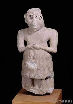 Unbekannt+-+Statuette+of+a+Sumerian+man+in+an+attitude+of+worship,+Istabalat,+Iraq